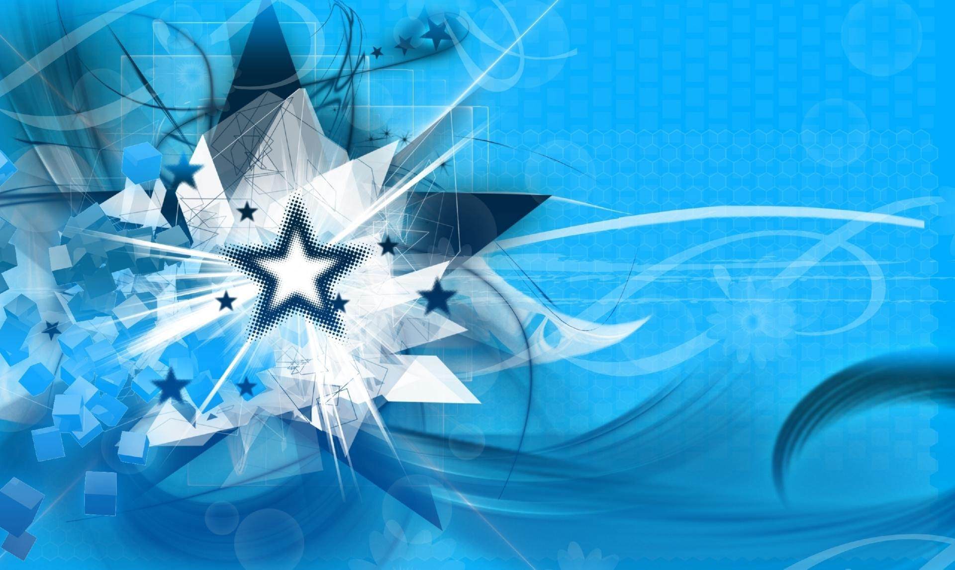 Blue shapes wallpapers HD quality