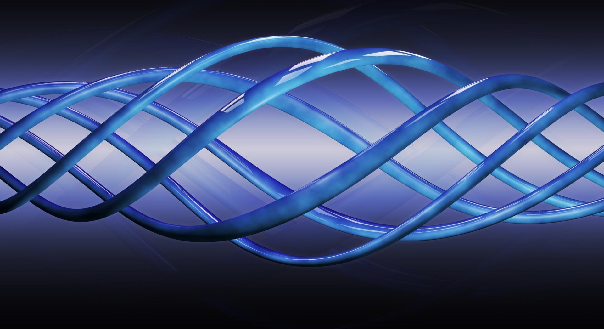 Blue spiral curves wallpapers HD quality