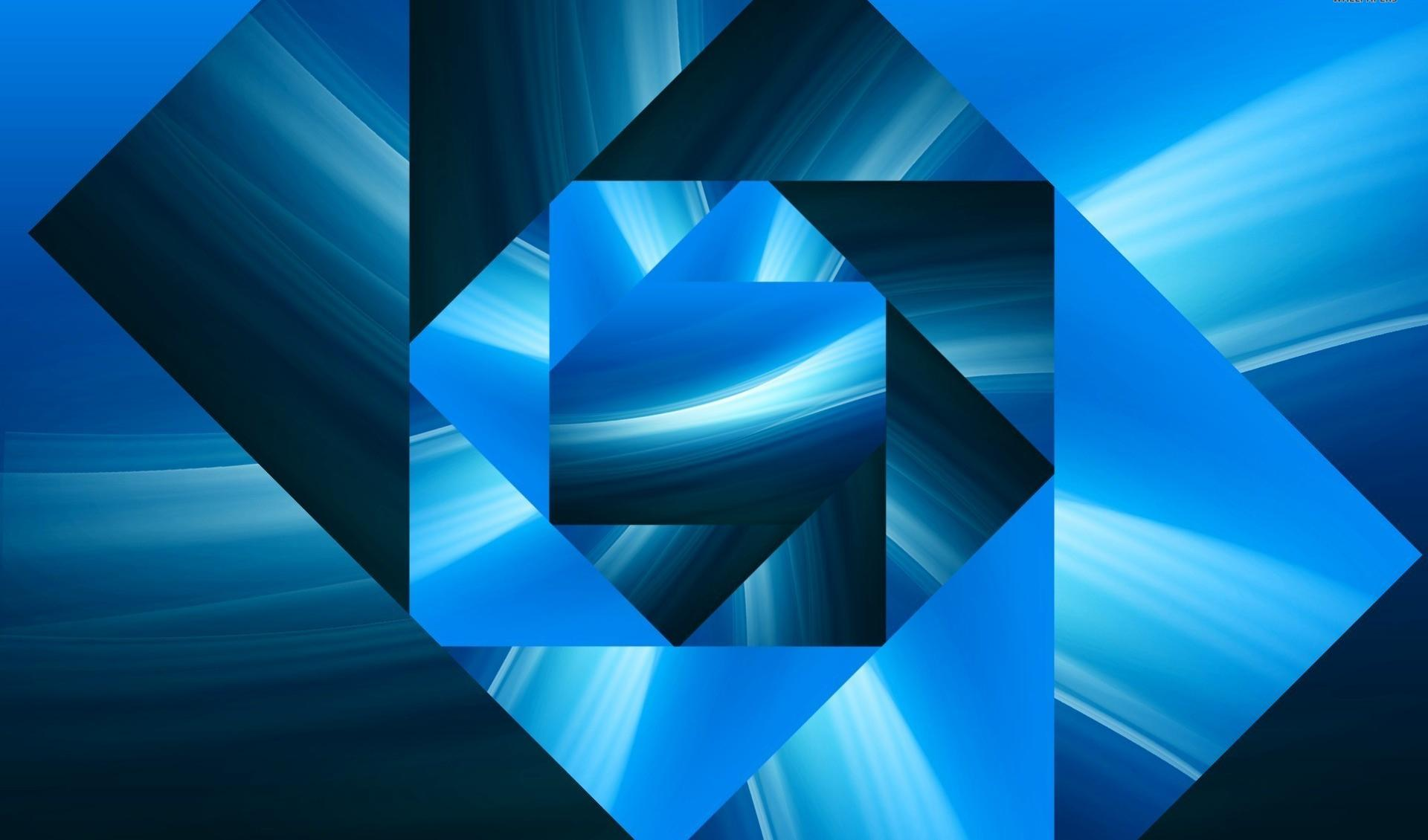 Blue square spiral wallpapers HD quality