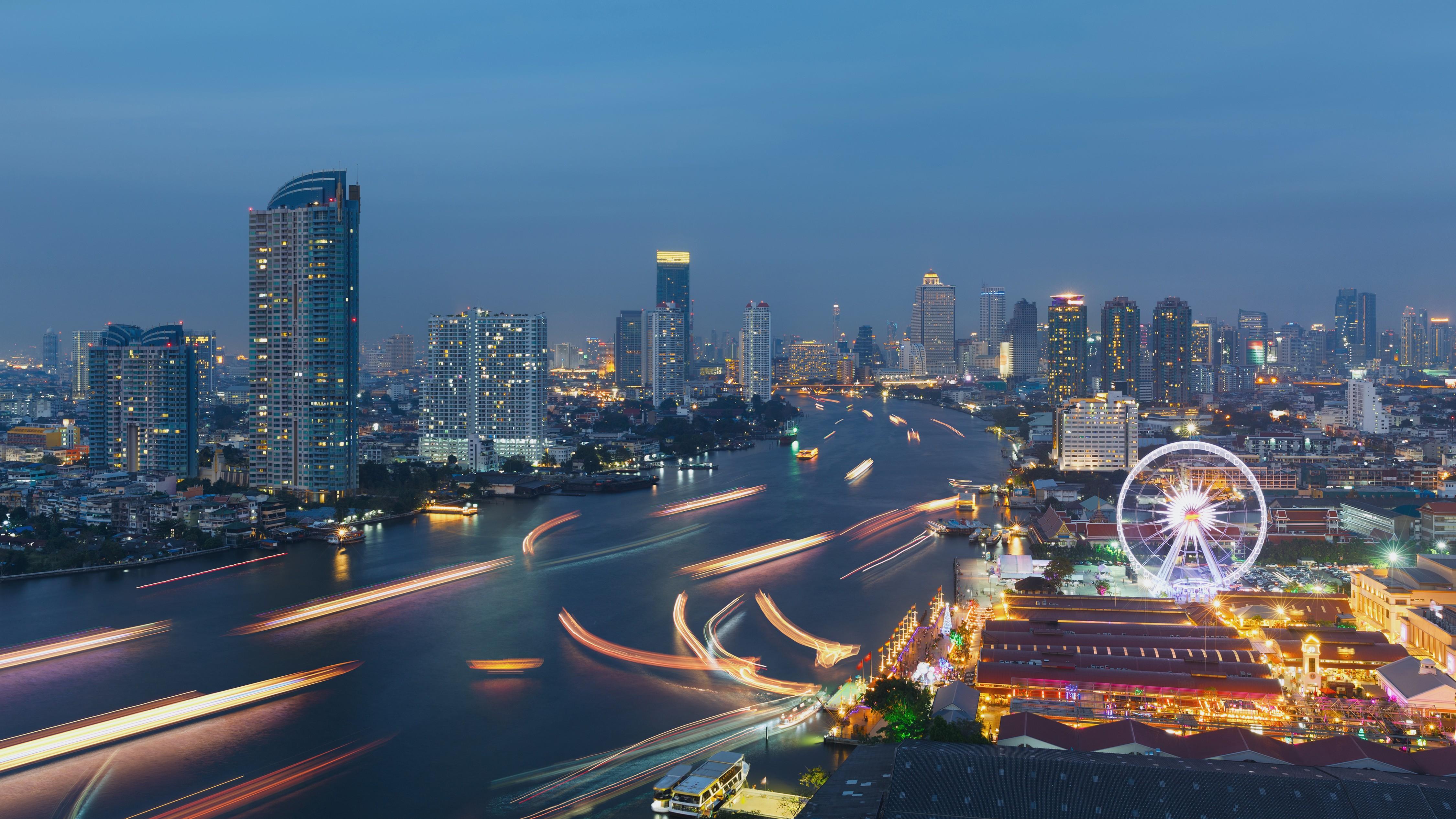 страны архитектура Бангкок Таиланд ночь  № 2195100 бесплатно