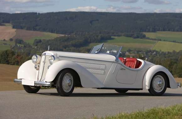 1935 White Audi Front 225 Roadster