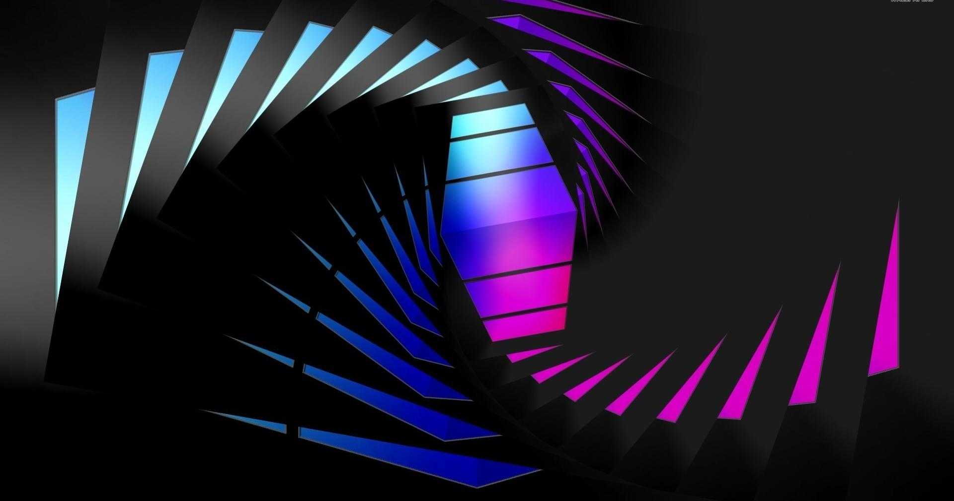 Blue and pink triangles wallpapers HD quality