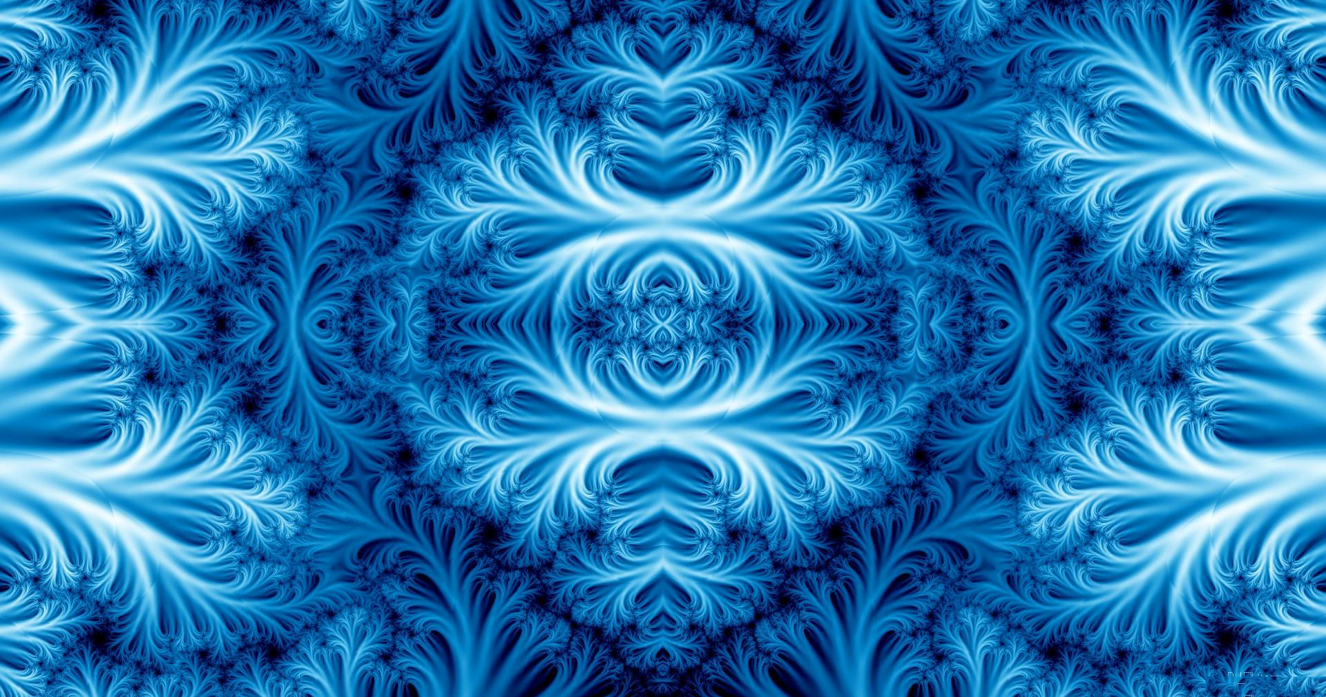 Blue fractal ice wallpapers HD quality