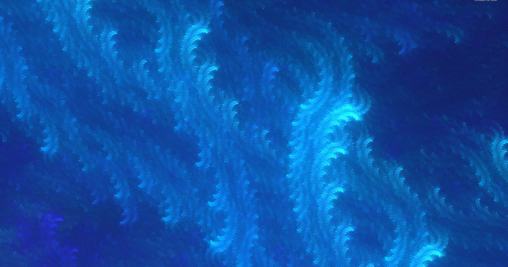 Blue fractal waves wallpapers HD quality