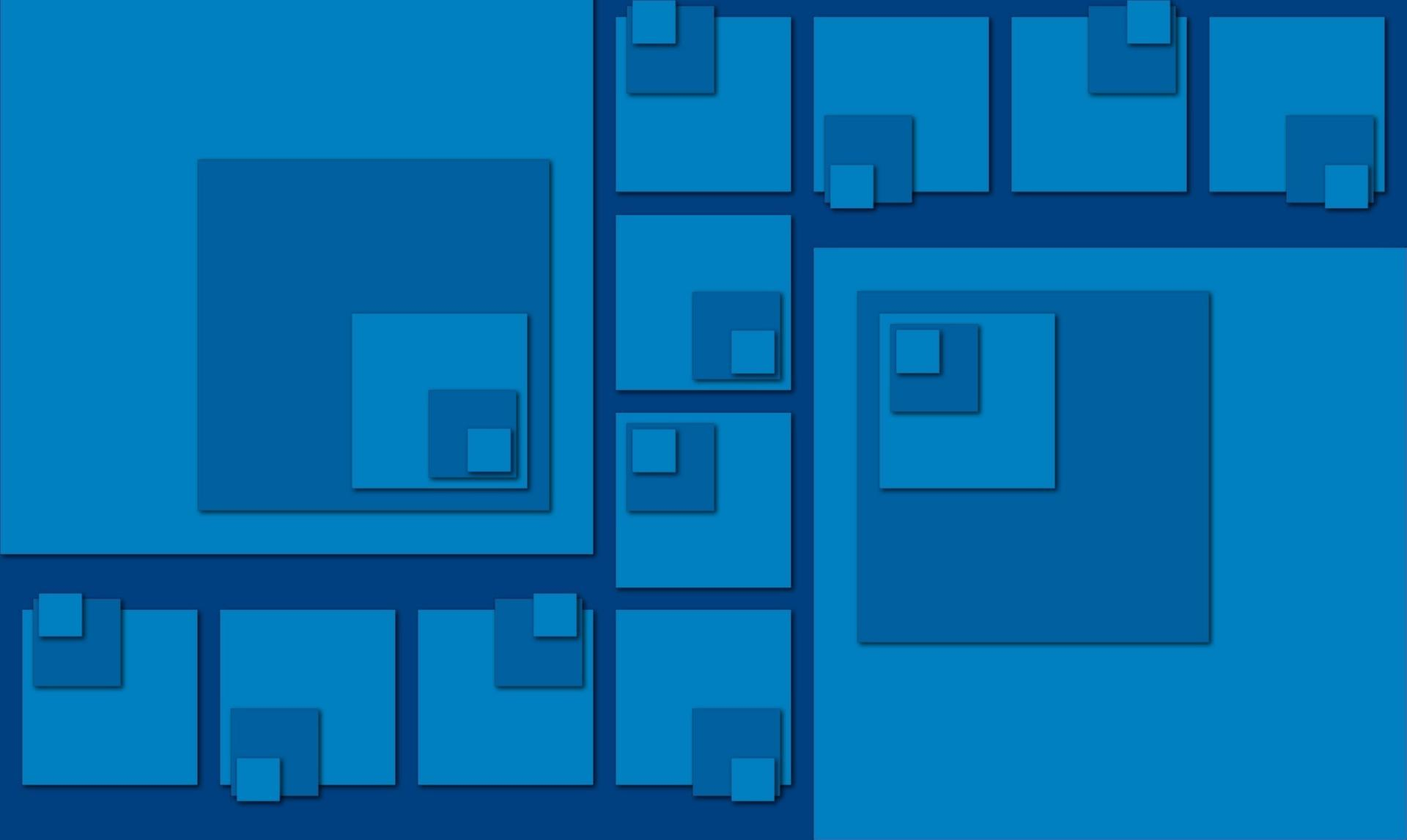 Blue squares wallpapers HD quality