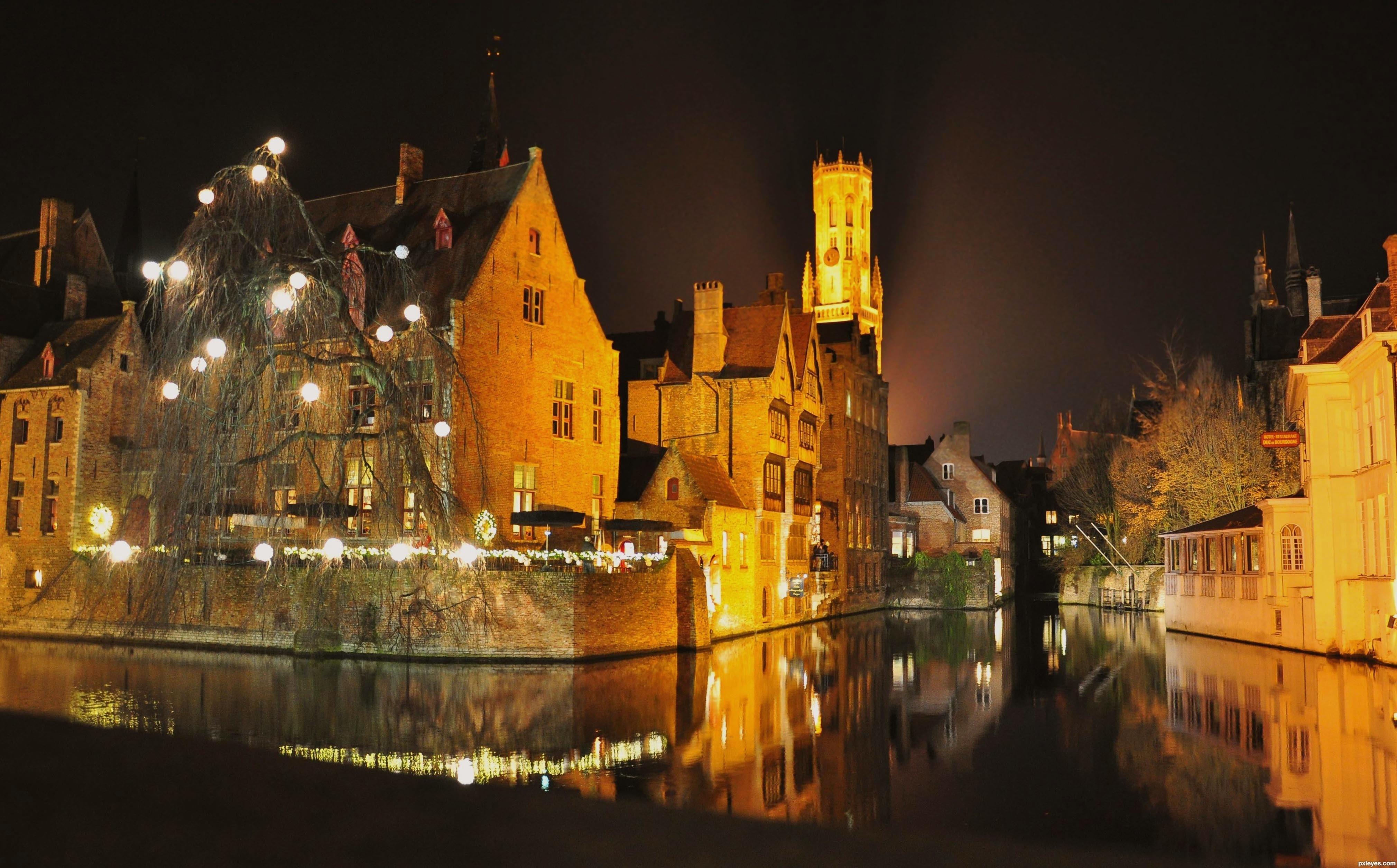 Bruges, Belgium In Autumn