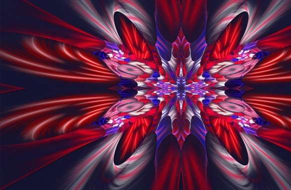 Beautiful red and blue fractal