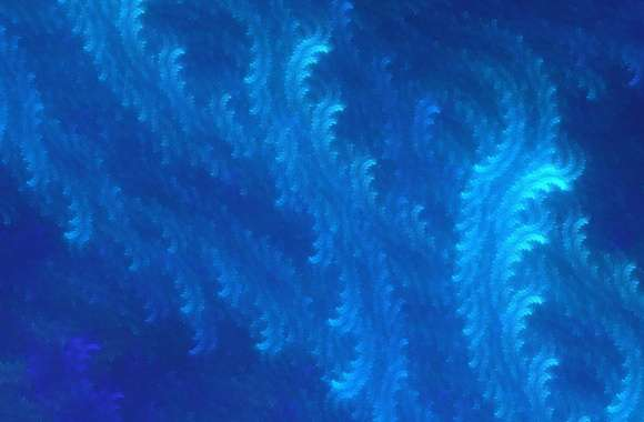 Blue fractal waves