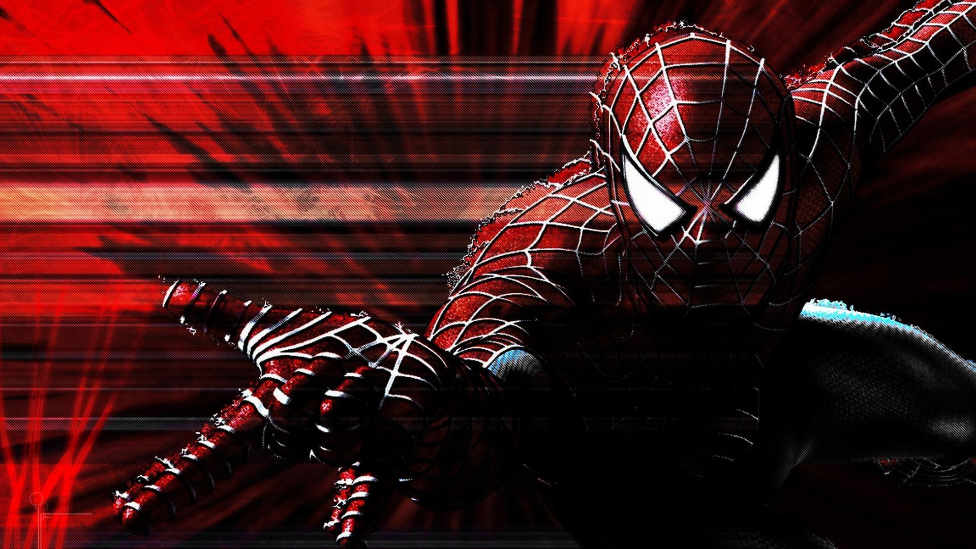 Spiderman web background blue