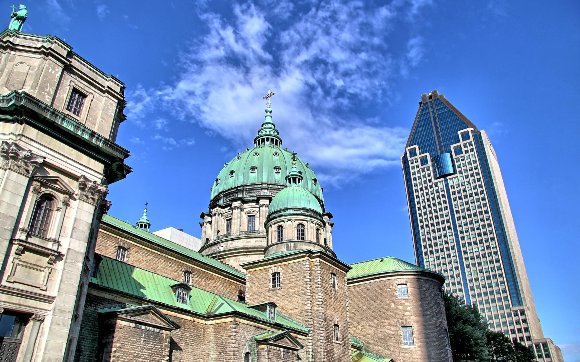 Basilique-Cathedrale Marie-Reine Du Monde In Montreal wallpapers HD quality