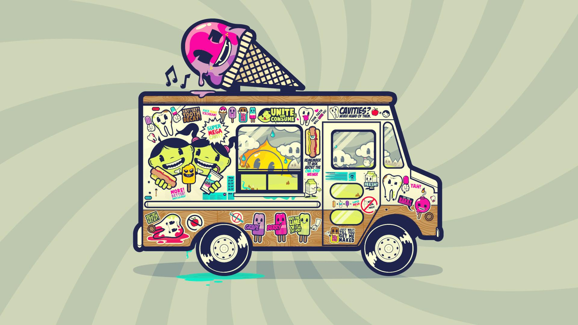 Ice Cream Truck wallpapers HD quality