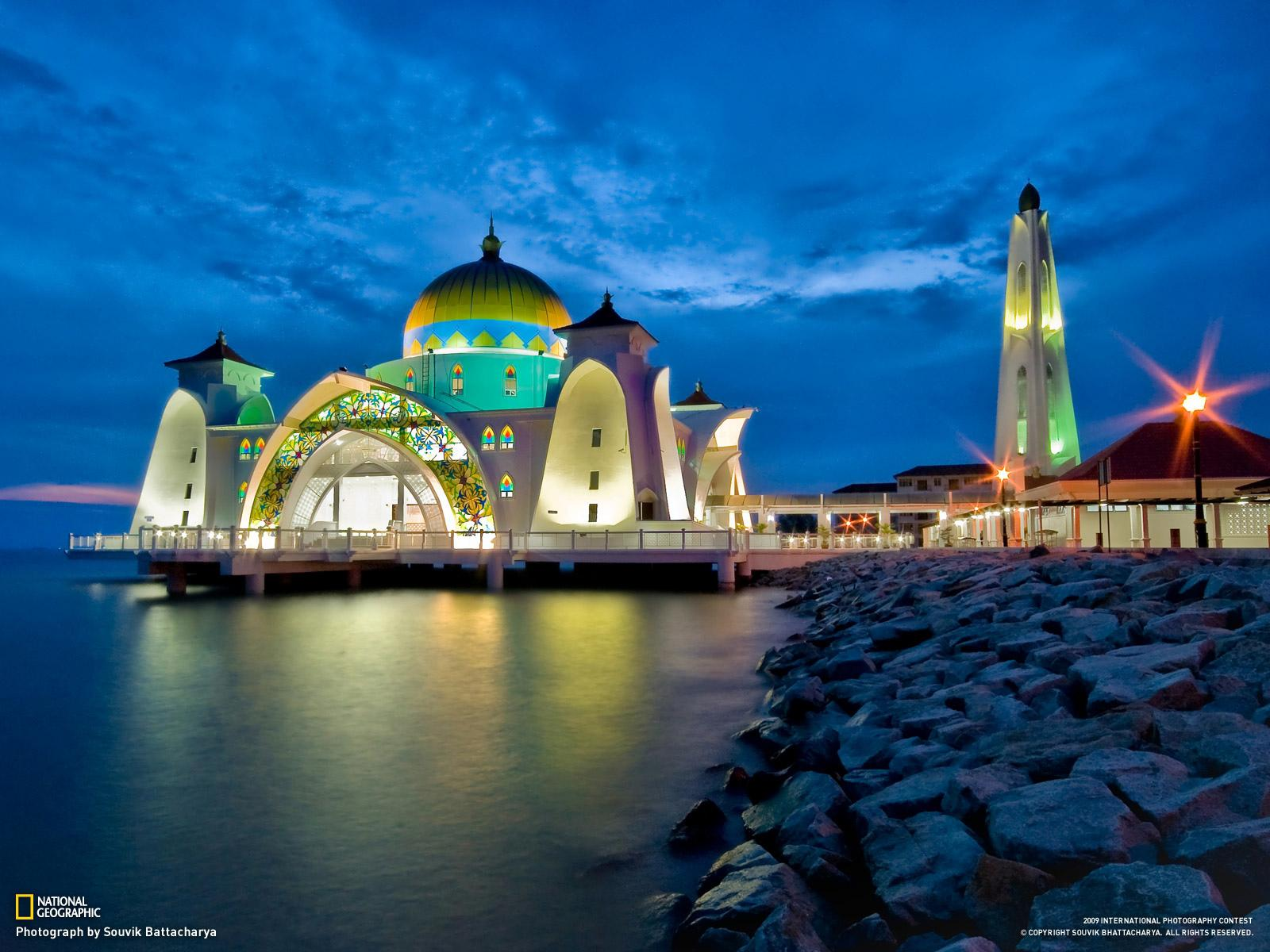 Malacca Straits Mosque wallpapers HD quality