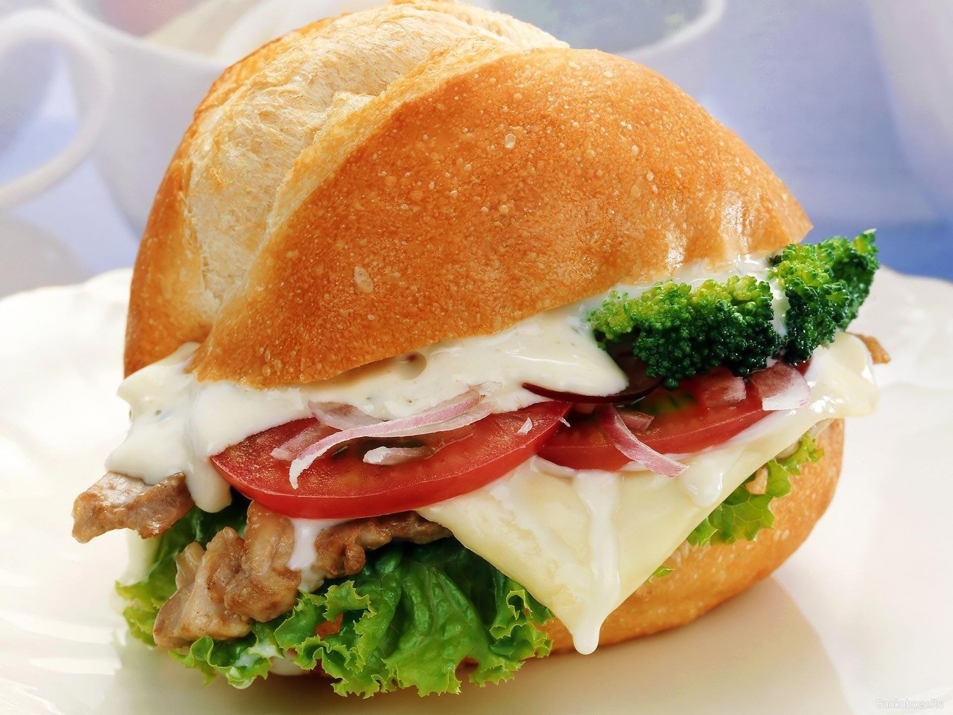 Обои сыр, салями, Гамбургер. Еда foto 9