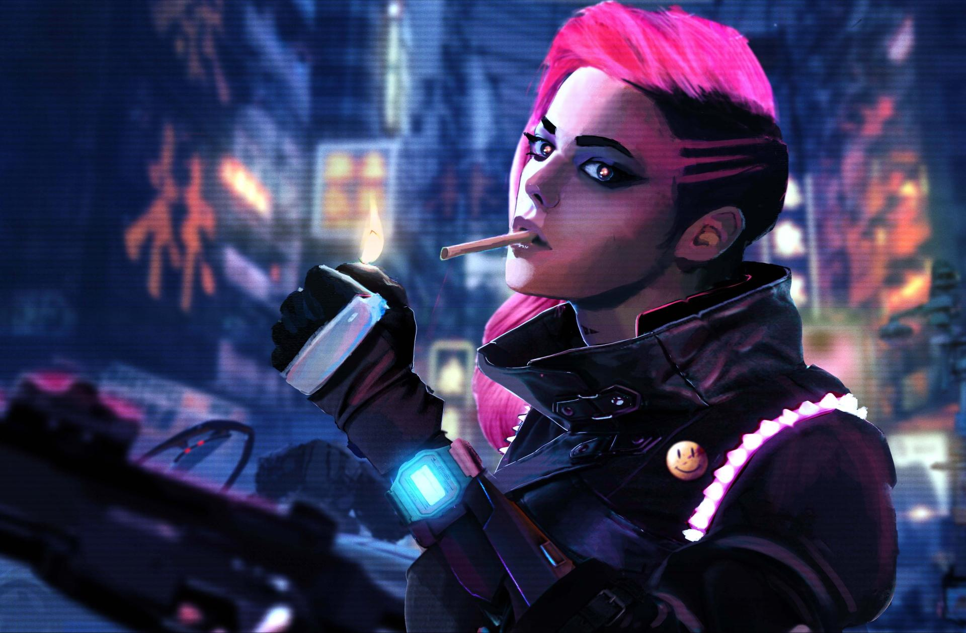2048x2048 Sombra Overwatch Hd Ipad Air Hd 4k Wallpapers: Cyberpunk Sci Fi Wallpaper HD Download