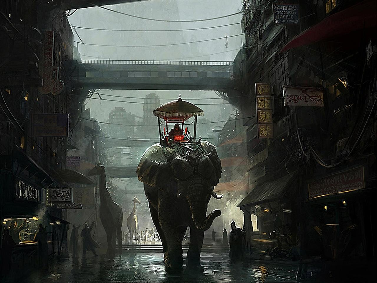 Elephant Fantasy wallpapers HD quality