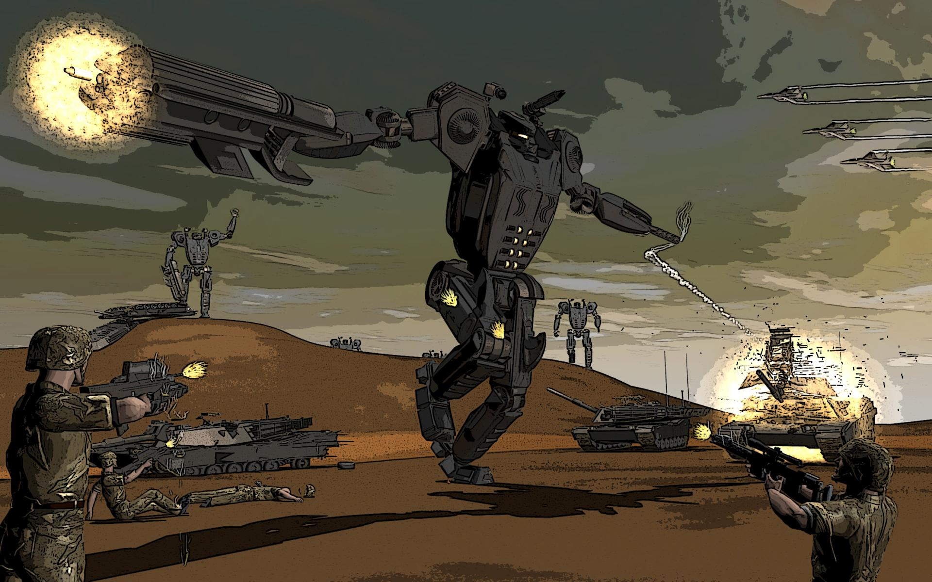 Robot Sci Fi wallpapers HD quality