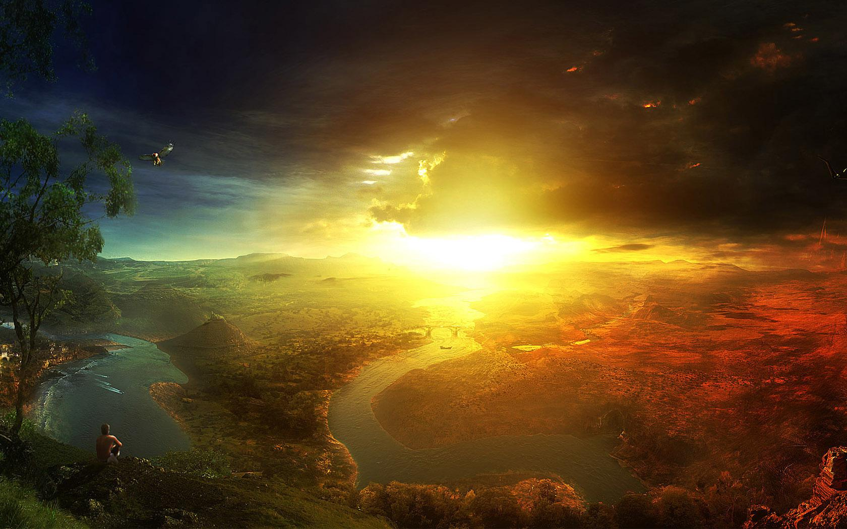 Sunset Fantasy wallpapers HD quality
