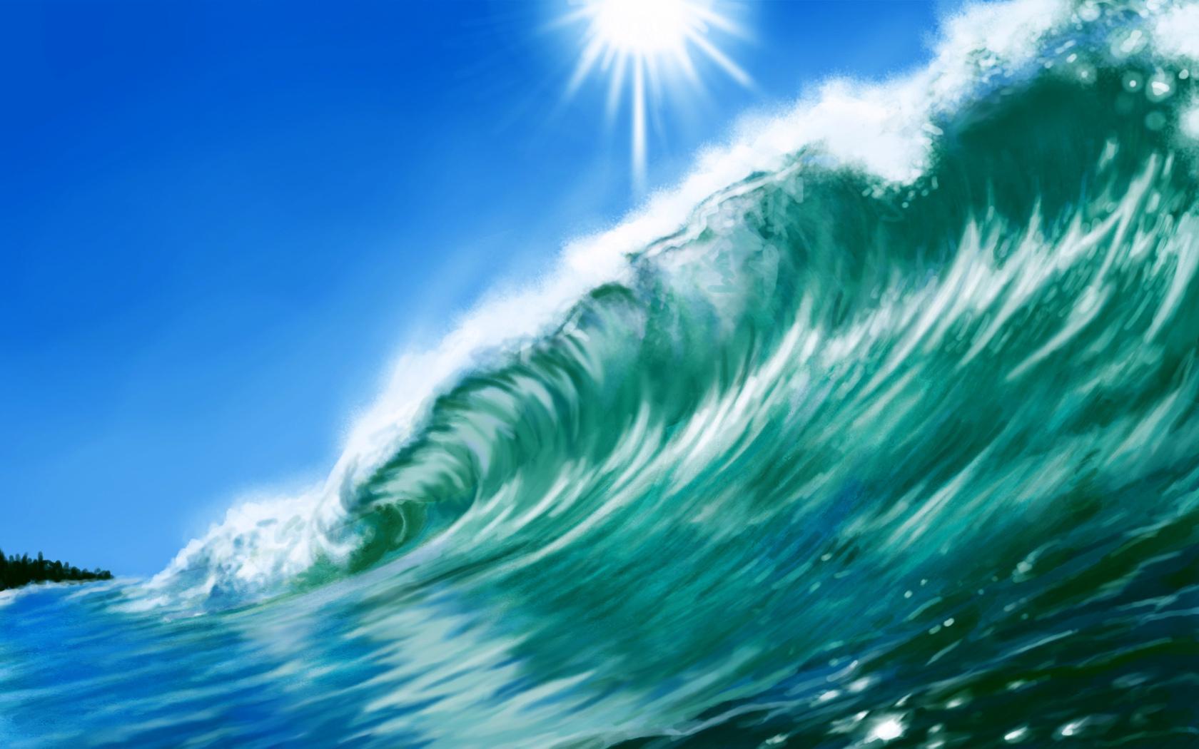 рисунки больших волн стенках расположено несколько