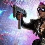 Cyberpunk Sci Fi desktop wallpaper