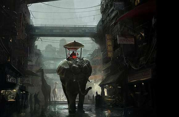Elephant Fantasy wallpapers hd quality