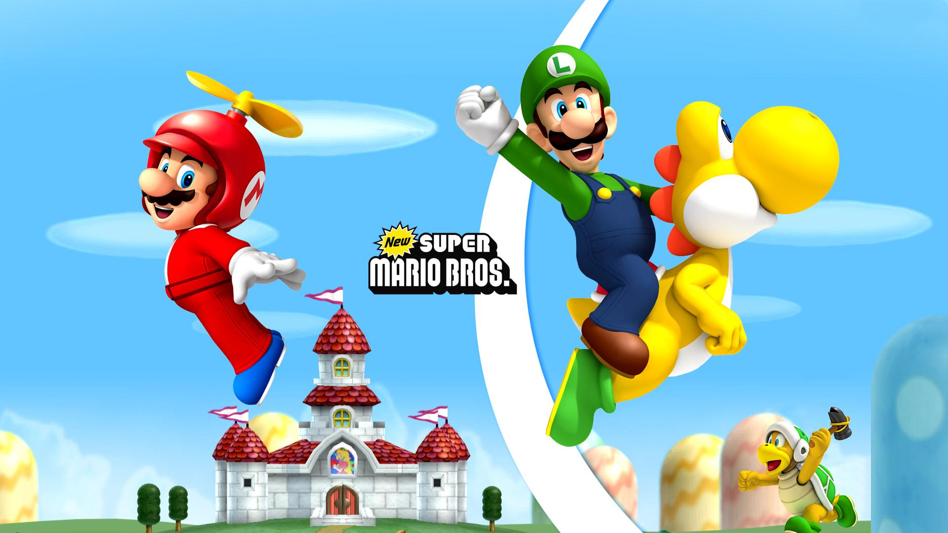 Behang Mario Bros ~ New Super Mario Bros Wii Wallpaper HD Download