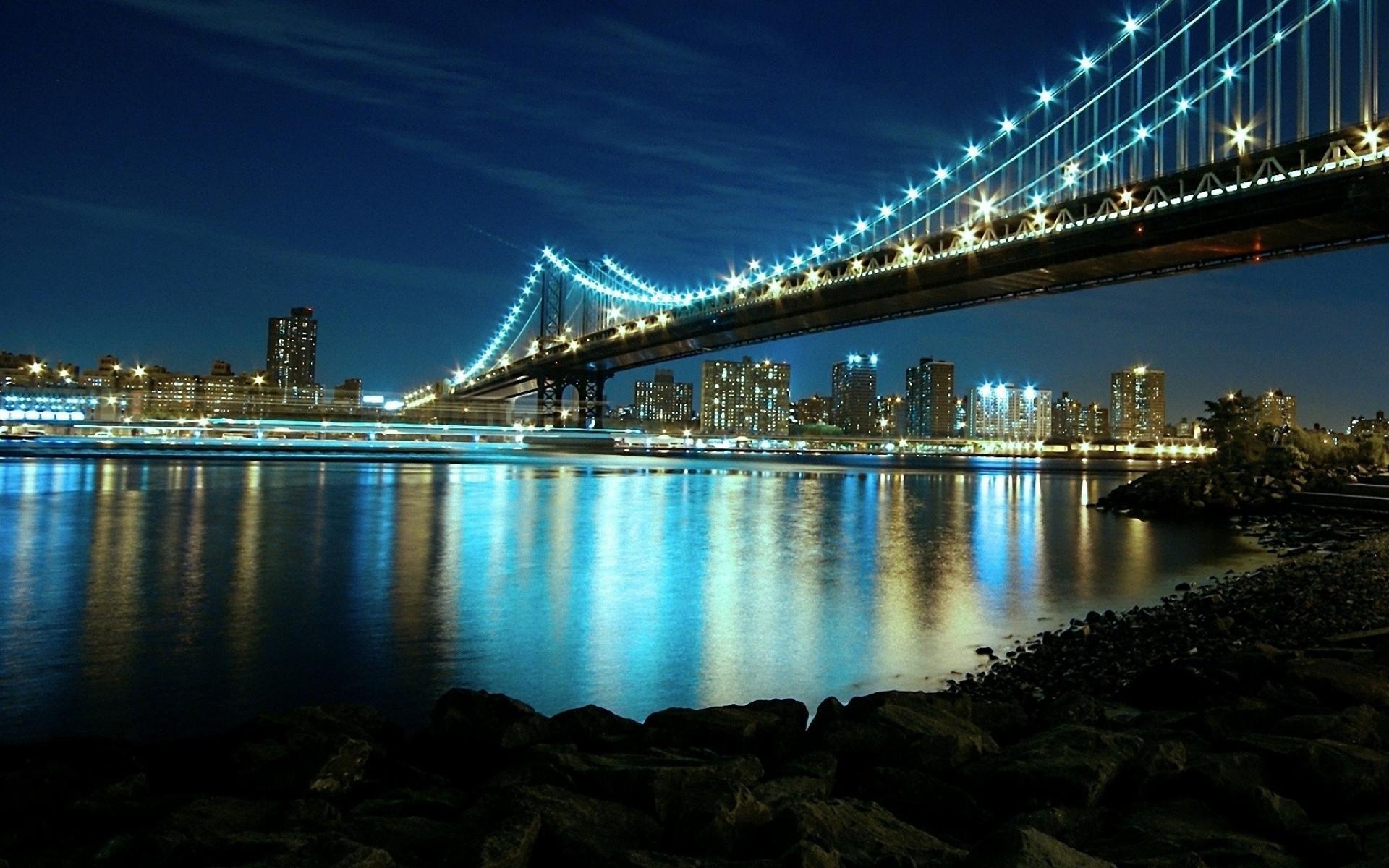 огни мост город ночь бесплатно