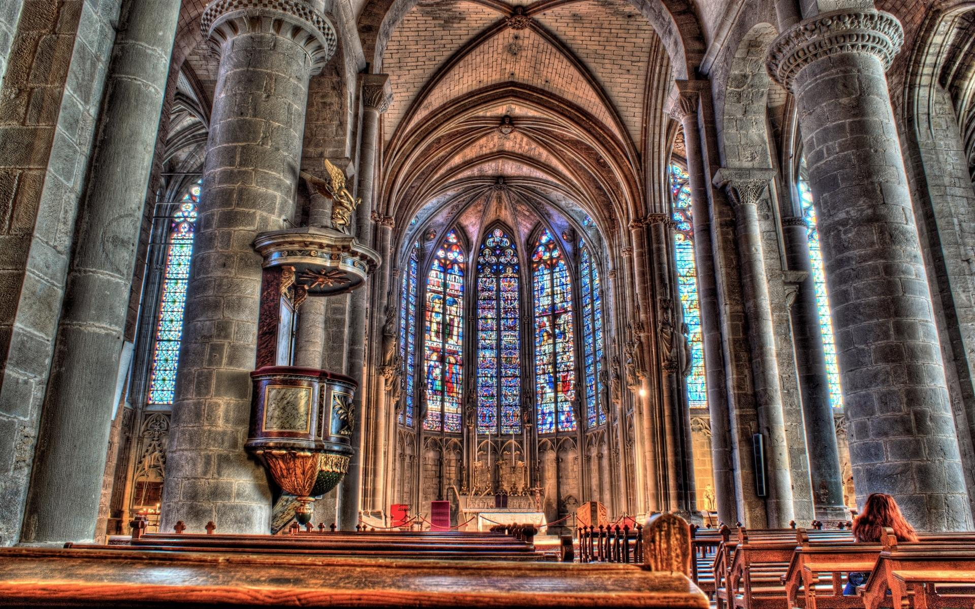 Basilica Of St. Nazaire And St. Celse, Carcassonne wallpapers HD quality