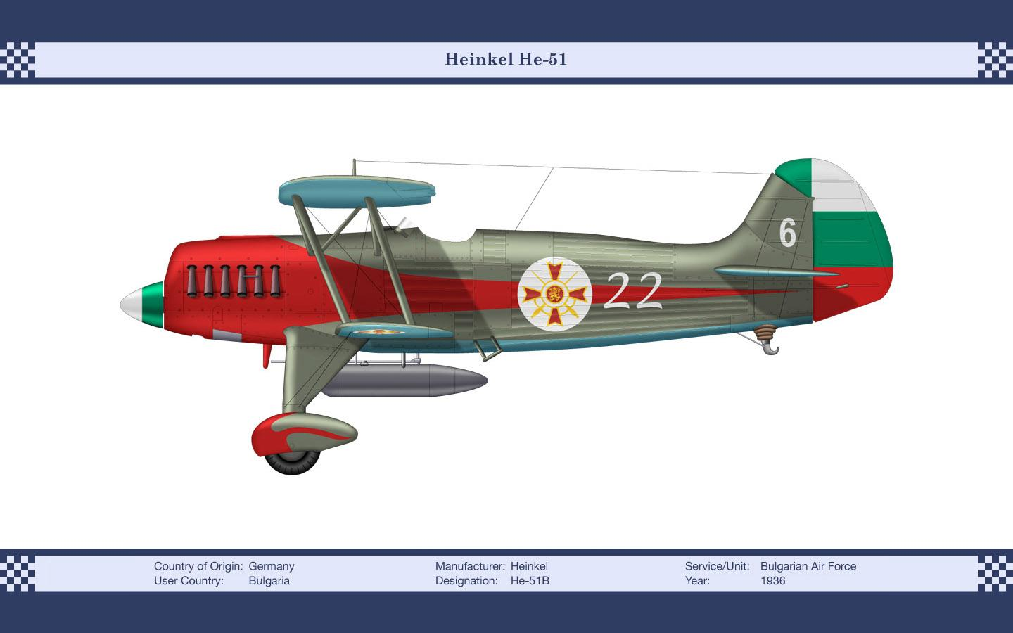 Heinkel He 51 at 1024 x 1024 iPad size wallpapers HD quality