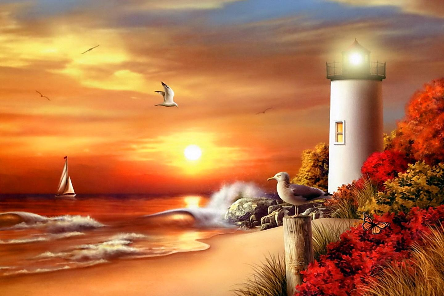 Lighthouse Artistic wallpapers HD quality