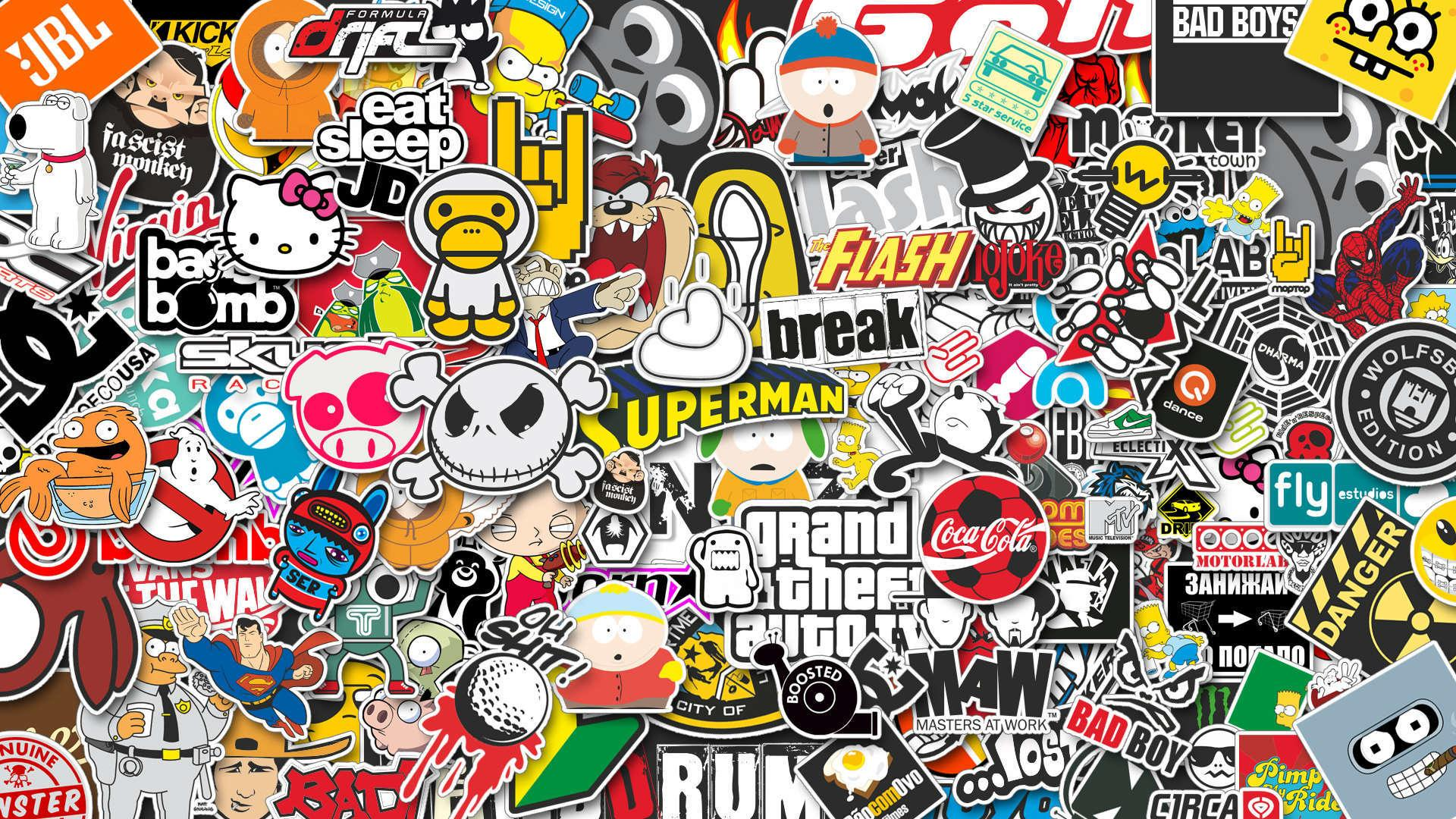 Sticker Bomb Wallpaper Hd Download