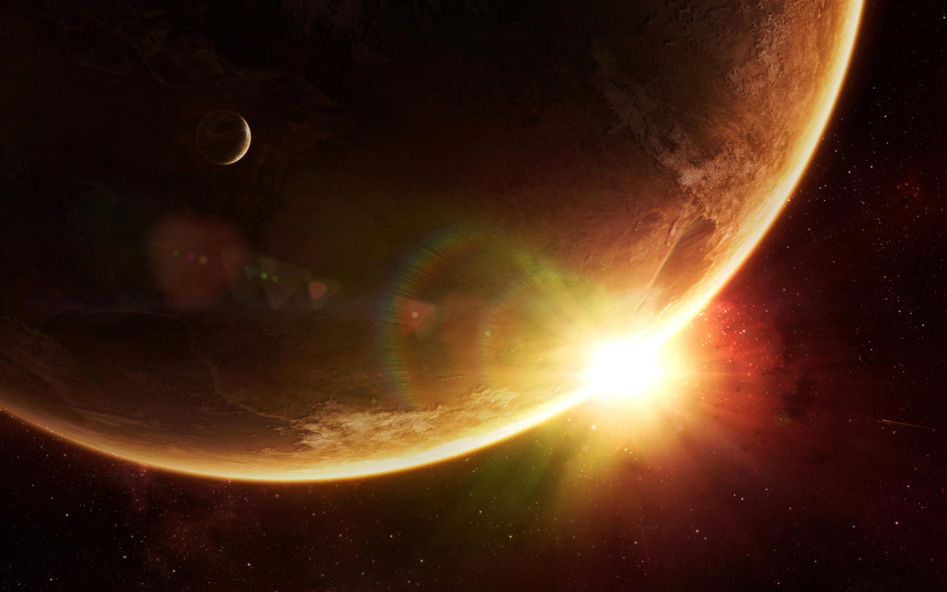 Sunrise Sci Fi wallpapers HD quality