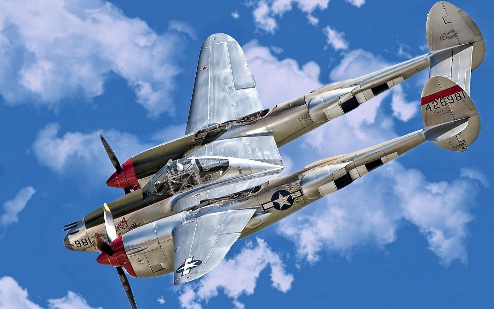 P 38 Lightning Wallpaper Lockheed P-38 Lightnin...