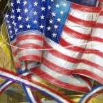 Flag Artistic background