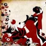 Geisha Artistic background