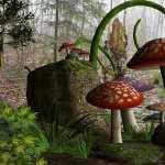 Mushroom Artistic new wallpaper