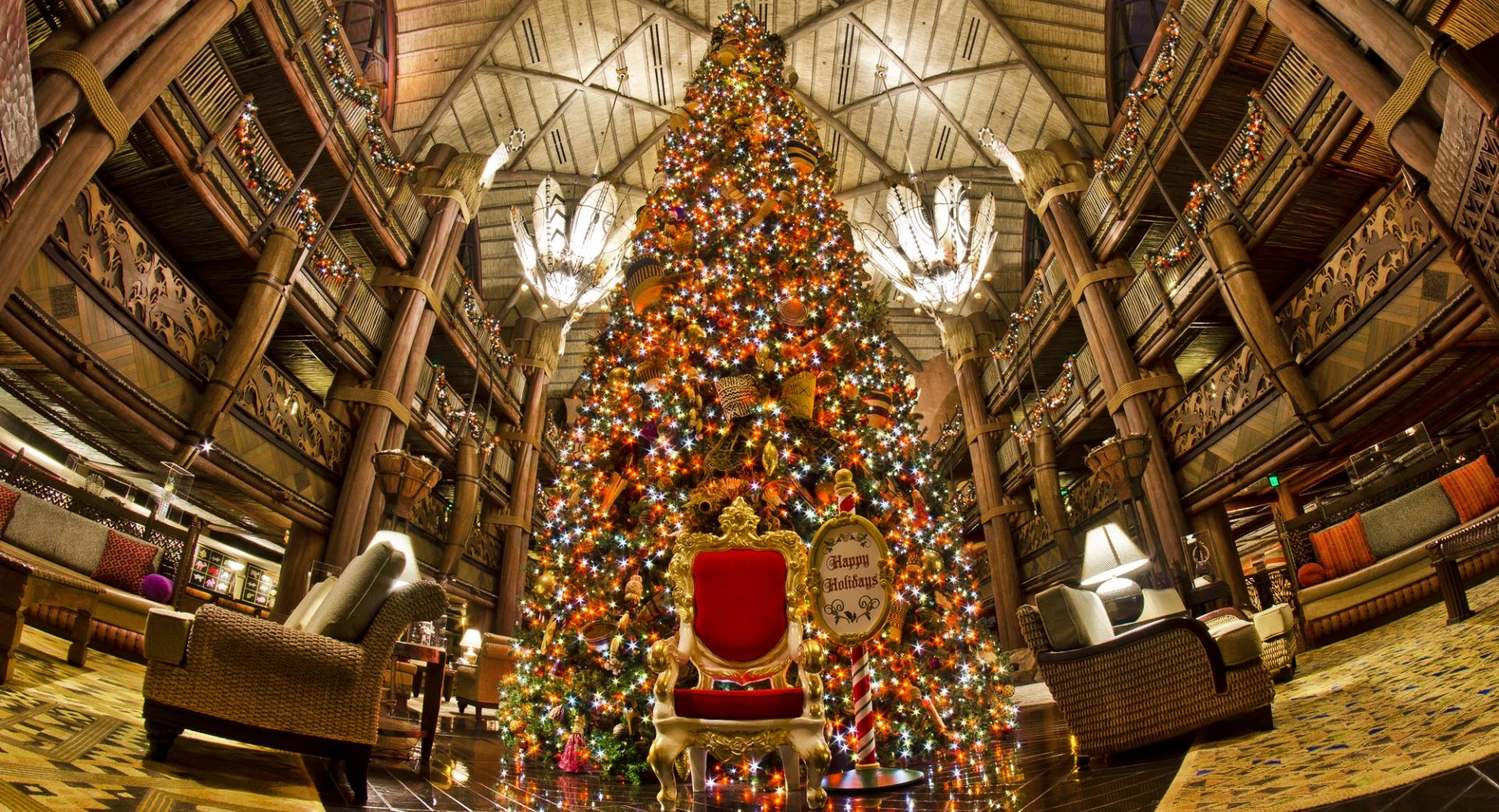 Animal Kingdom Lodge Christmas Tree wallpapers HD quality