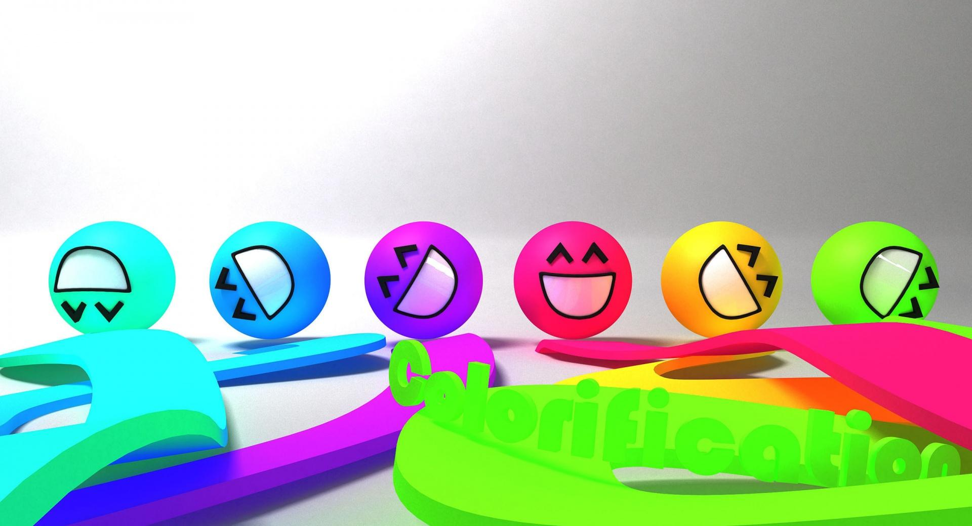 Colorful Smiley Faces wallpapers HD quality