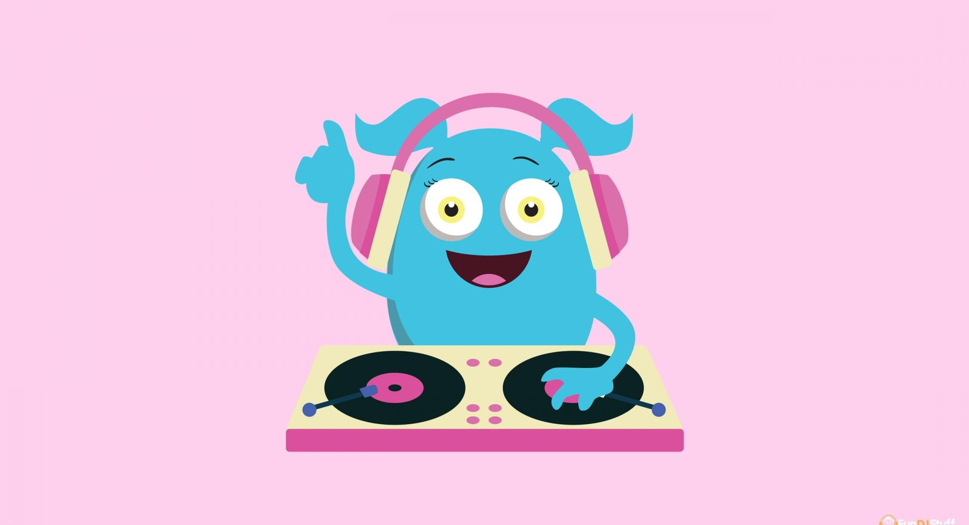 Cute Girly Monster DJ wallpapers HD quality