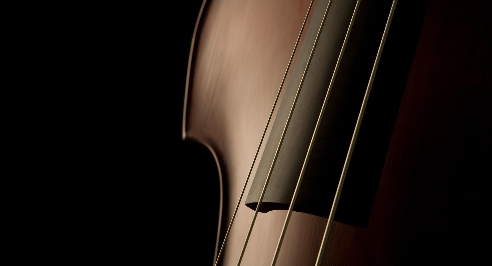 Double Bass Close Up at 320 x 480 iPhone size wallpapers HD quality