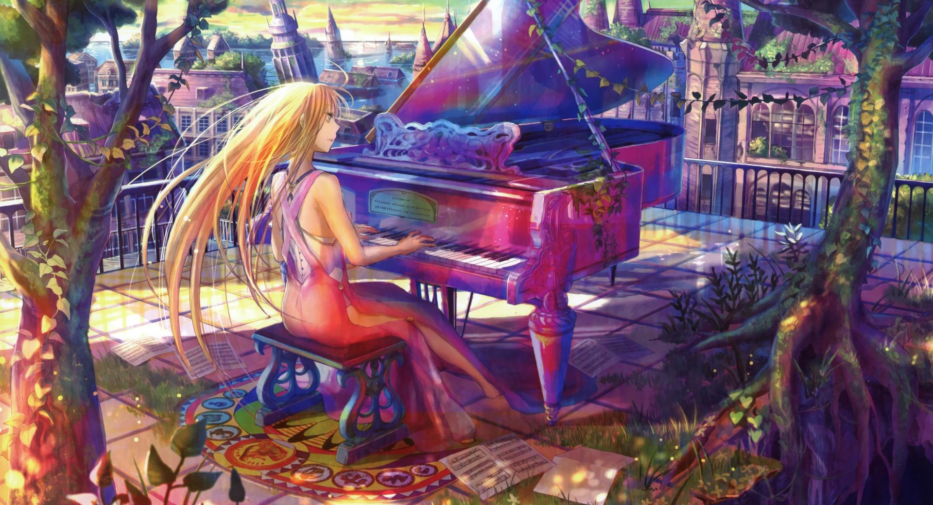 Fuji Choko Playing Piano wallpapers HD quality
