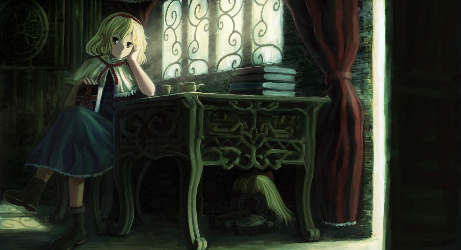 Girl With Books wallpapers HD quality