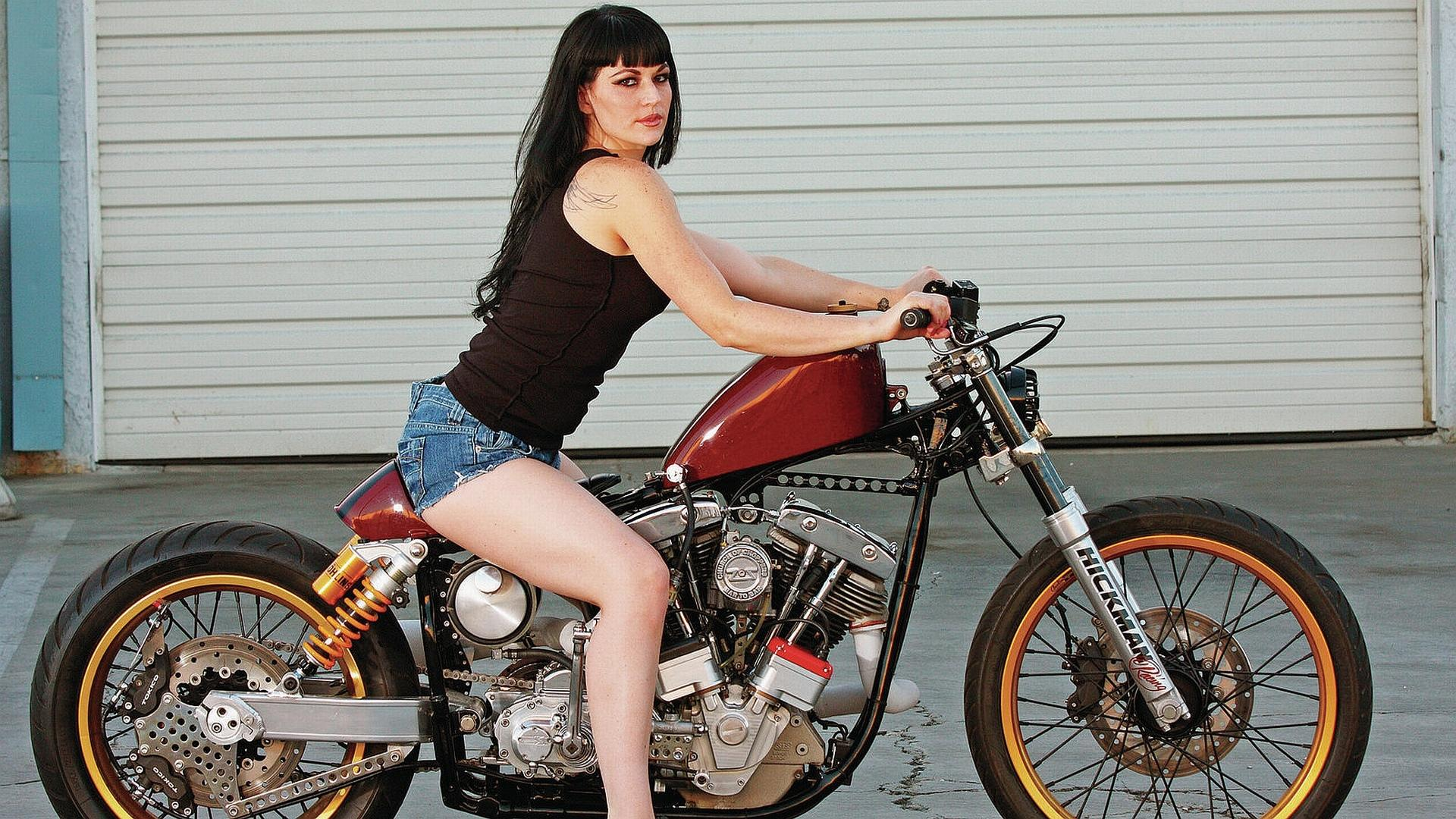 Girls and Motorcycles wallpapers HD quality