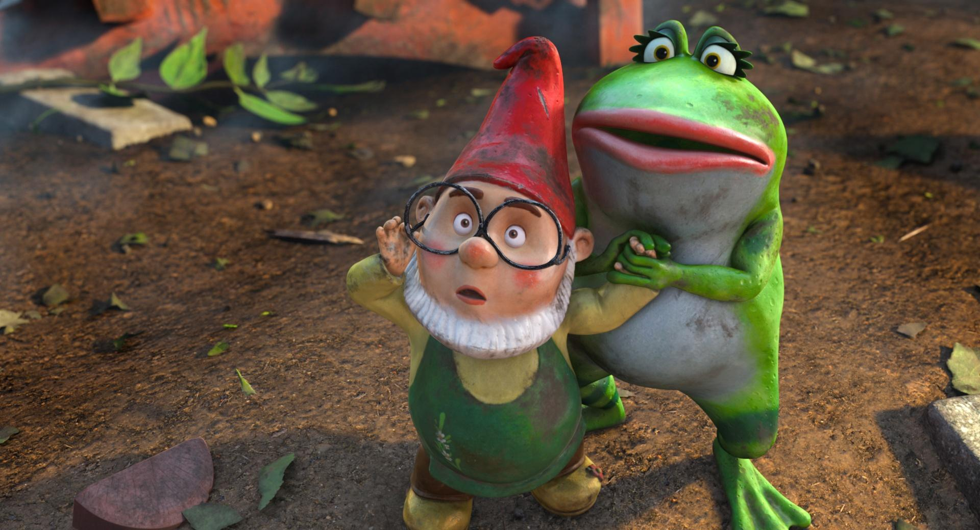 Gnomeo and Juliet, Paris And Nanette at 640 x 960 iPhone 4 size wallpapers HD quality