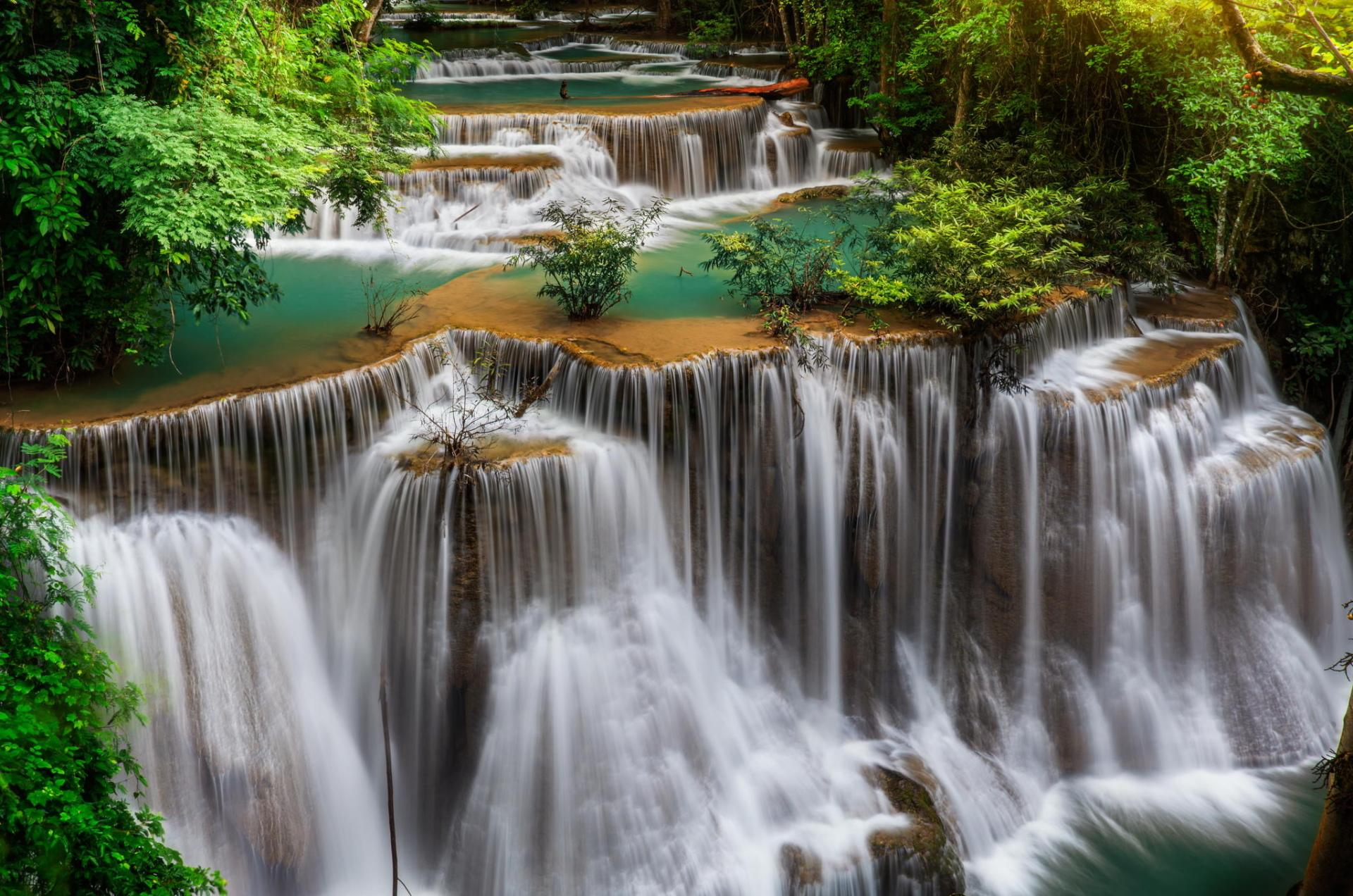 Huai Mae Kamin Waterfall wallpapers HD quality