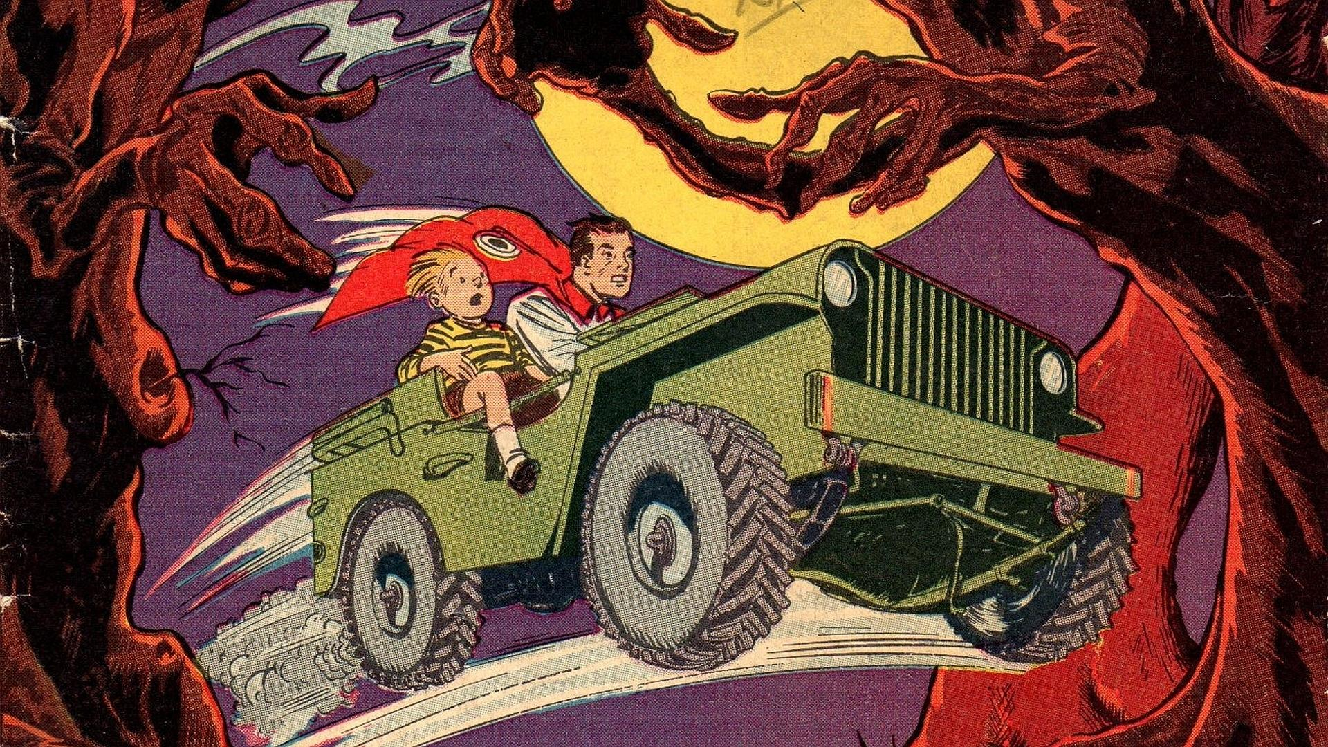 Jeep Comics at 640 x 960 iPhone 4 size wallpapers HD quality