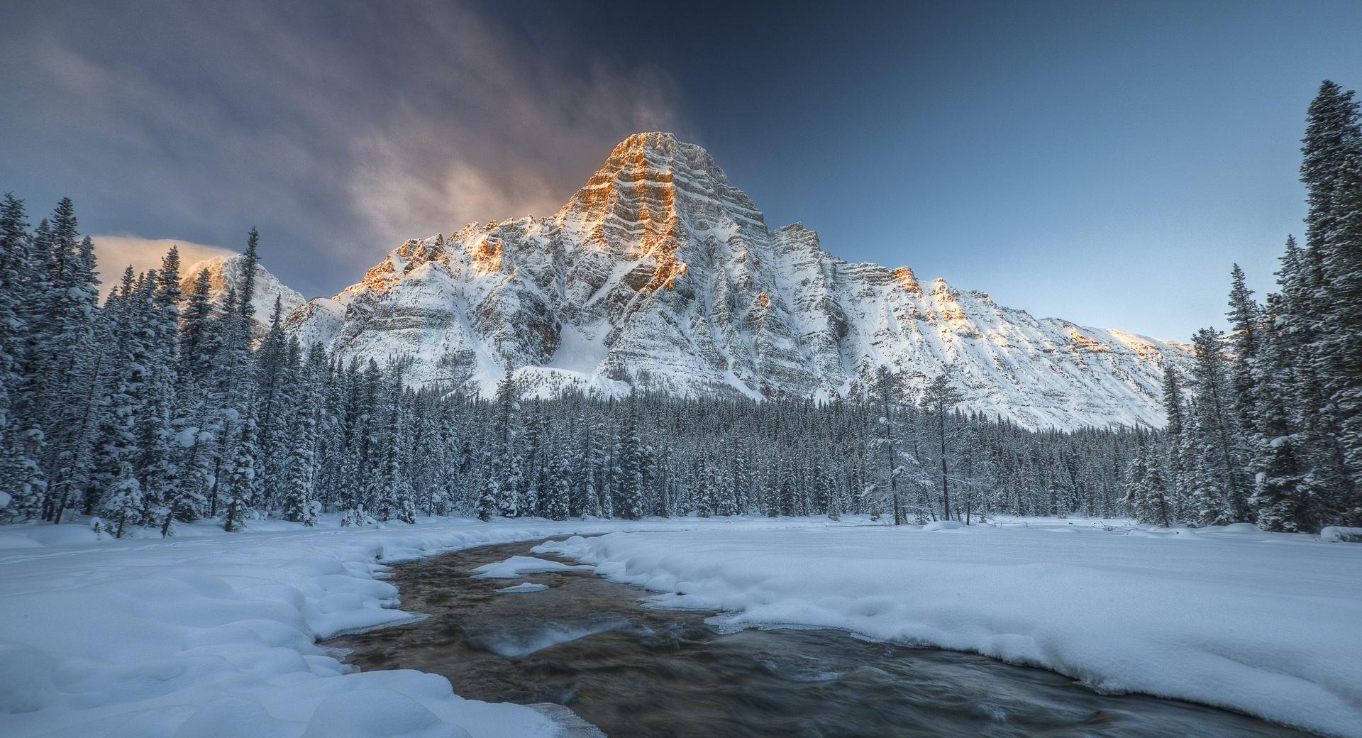 Mount Chephren, Banff National Park wallpapers HD quality