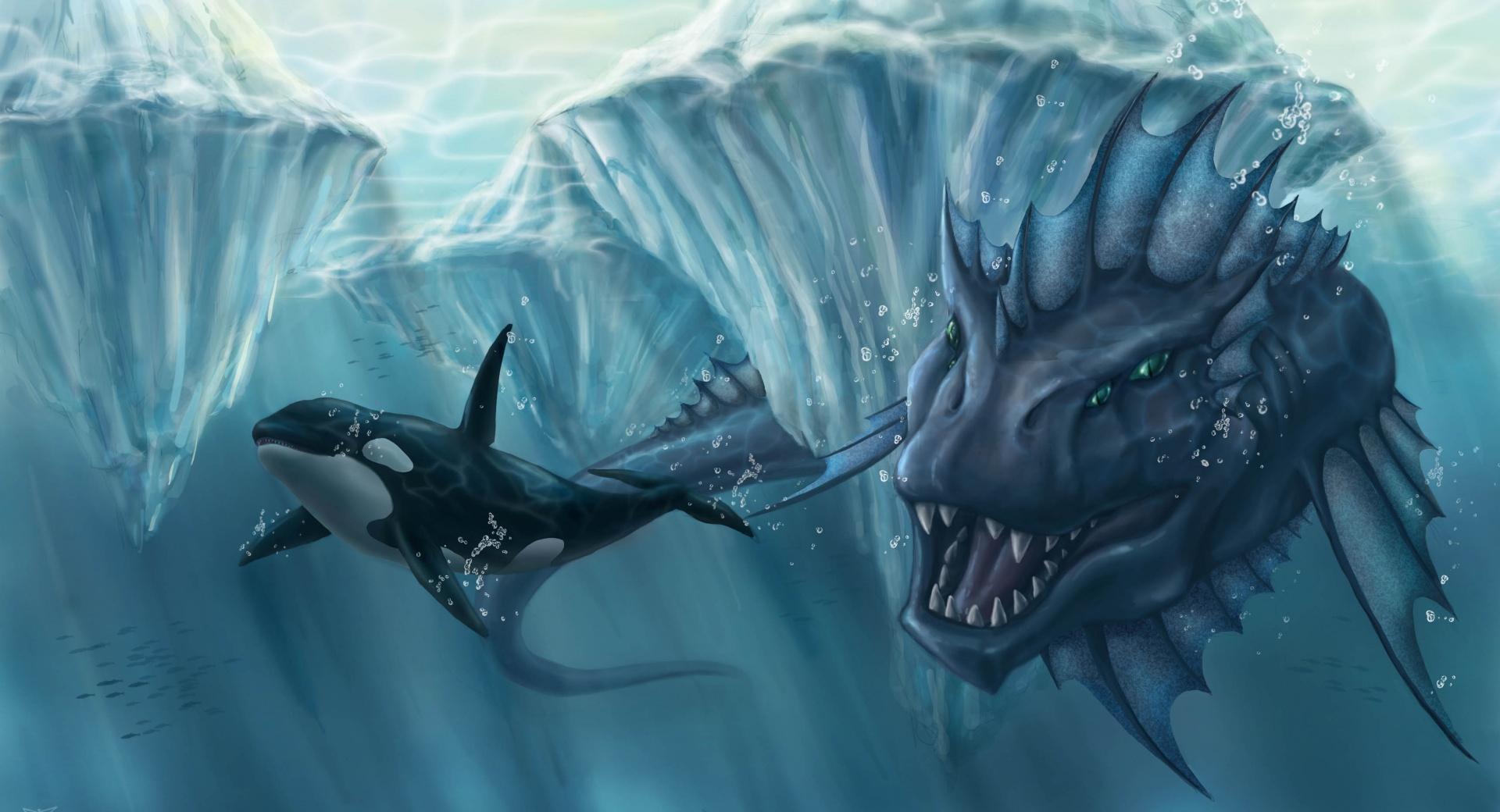 Prehistoric Underwater Monster wallpapers HD quality