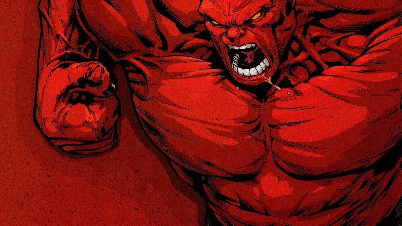 Red Hulk at 1152 x 864 size wallpapers HD quality