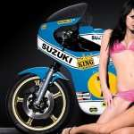 Girls and Motorcycles download wallpaper