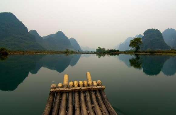 Bamboo Boat wallpapers hd quality